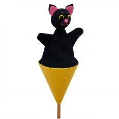 Čierne dievčatá s čiernou mačička